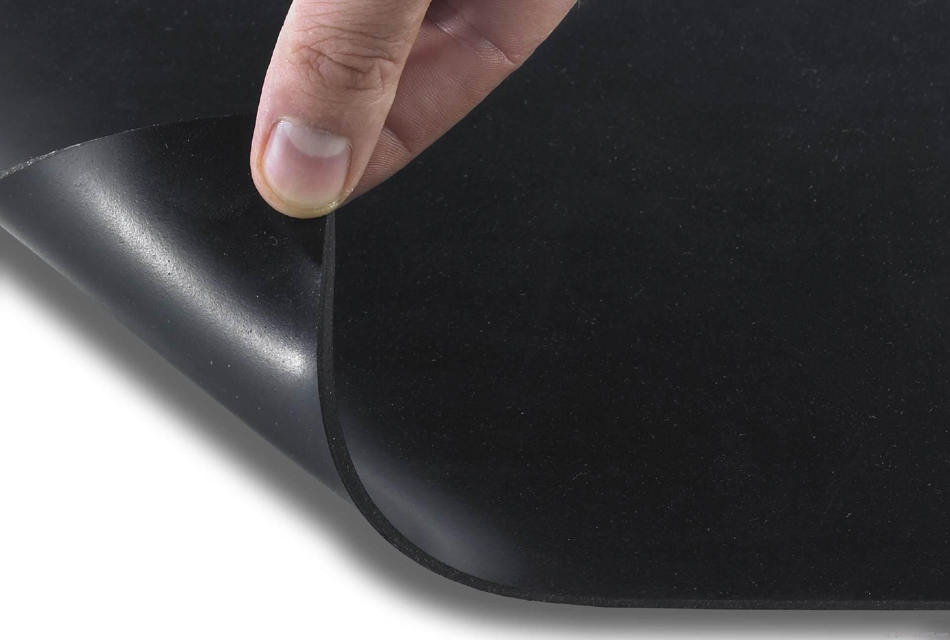 Meterware St/ärke 1 mm zahlreiche Verwendungsm/öglichkeiten 120x200 cm Gummiplatten NR//SBR Gummimatten in 9 St/ärken
